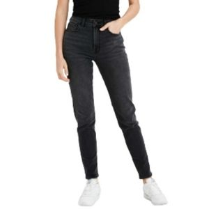American Eagle Mom Jeans Faded Black High Waisted